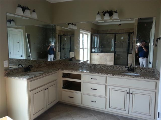 Master Bath with lots of storage, two sinks, lots of counter space - photographer not included!